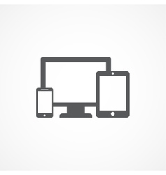 Devices icon vector image