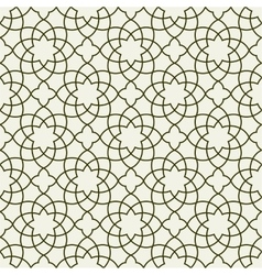 Gorgeous Seamless Arabic Pattern Design vector image vector image