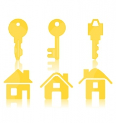 house key icons vector image
