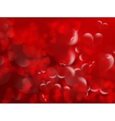 Shiny hearts bokeh light valentines day vector