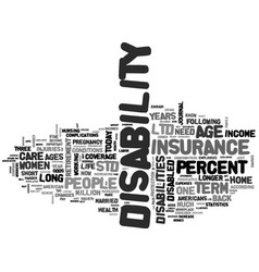 Why disability insurance is so important text vector