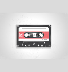 audio cassette detailed elements old retro vector image vector image