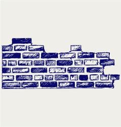 Old bricks vector image vector image
