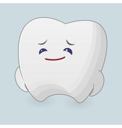 Sad tooth vector image vector image