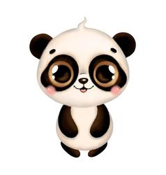 A cute cartoon panda vector