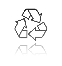 A recycle symbol eco concept vector