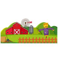 A rural farmland landscape vector