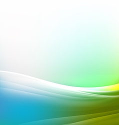 Abstract colorful and flow wave background vector