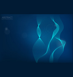 abstract digital blue background design vector image