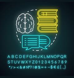 Academic lifestyle neon light concept icon vector