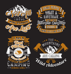 adventure quote and saying set vector image