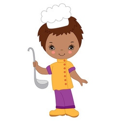 African American Little Chef vector image