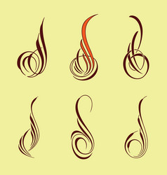 america pinstriping style collection set vector image