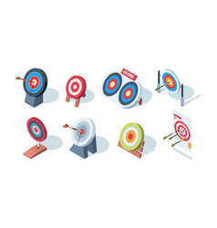 arrow target archery goals game performance vector image