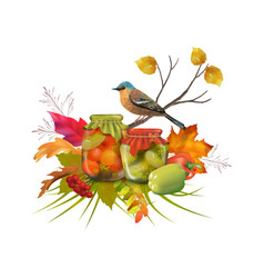 Autumn composition vector
