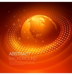 Background with glowing space orbit vector