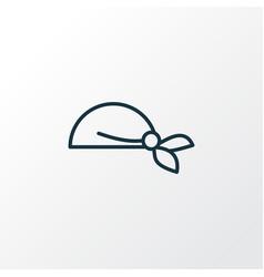 bandanna icon line symbol premium quality vector image