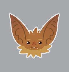 bat emotional head of bat vector image