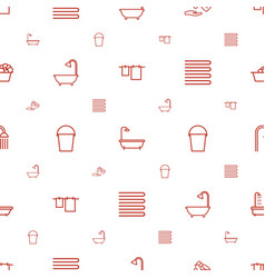 bath icons pattern seamless white background vector image