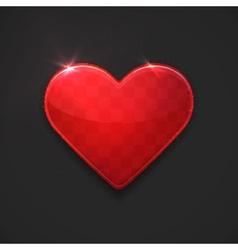 beautiful red glossy heart vector image