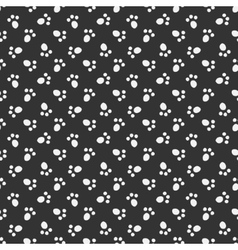 Black animal footprint seamless pattern vector image