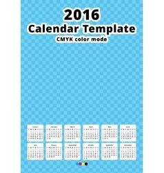 Calendar 2016 year template vector