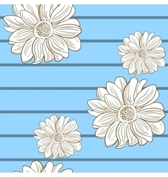 Camomile Seamless Pattern 2 vector