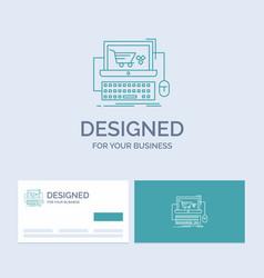 cart online shop store game business logo line vector image