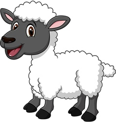 Cartoon funny sheep posing isolated vector image