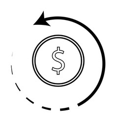 cashback icon with coin vector image