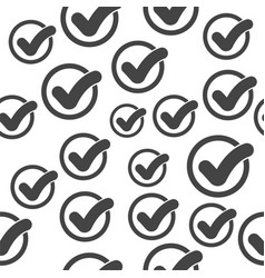 Check mark seamless pattern background icon flat vector