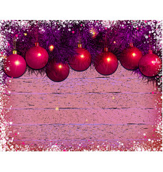 christmas theme with blank on wooden planks vector image