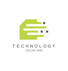 data chip technology logo vector image