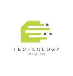 data chip teechnology logo vector image