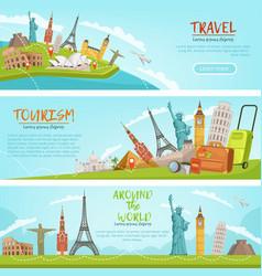 design of three horizontal banners vector image