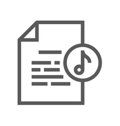 documents line icon vector image