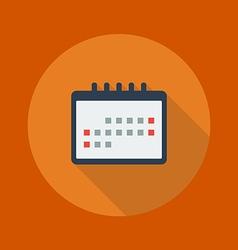 Education Flat Icon Calendar vector image