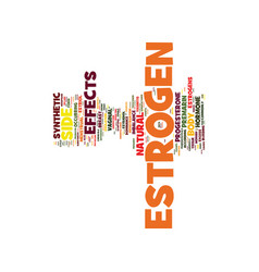Estrogen side effects do you know them text vector