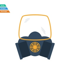 Flat design icon of chemistry gas mask vector image