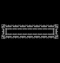 frame with ornaments vector image