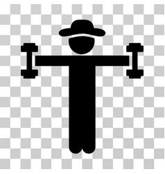 Gentleman fitness icon vector