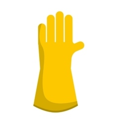 gloves worker security icon vector image