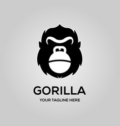 gorilla logo with kettlebell symbol emblem vector image
