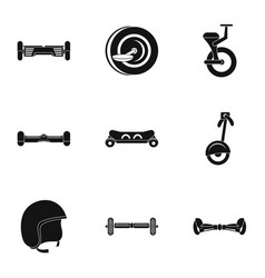 Gyroscooter icon set simple style vector