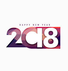 happy new year 2018 text in creative style vector image