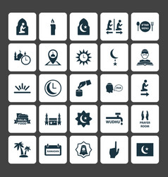 Holiday icons set collection of pinpoint vector