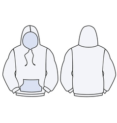 Hoodie template design vector