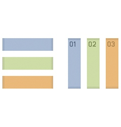 horizontal and vertical labels vector image