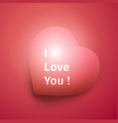 i love you banner declaration of love vector image