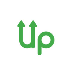 icon concept of up word with arrows moving up vector image